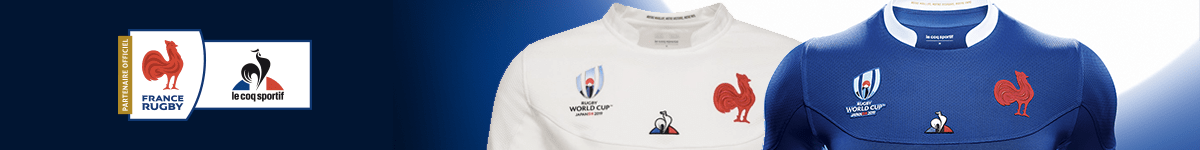 France : Maillots de Rugby, Collection Le Coq Sportif, accessoires supporters